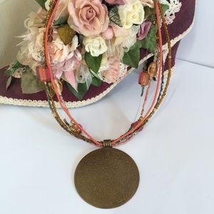 Cool multi strand vintage necklace